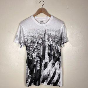 NWT APT. 9 Monochrome NYC Skyline Graphic T-Shirt
